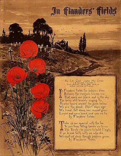 «In Flanders' Fields» - published & illustrated in 1918 by stoixeia