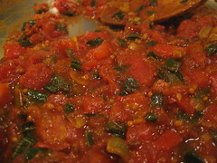 Tomato and Spring Onion Curry Preparation
