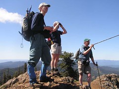 More pointing and looking by explorers on Iron Bear Peak