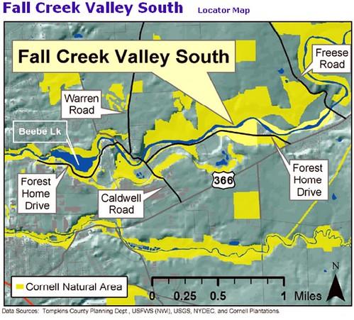 Fall Creek Cornell Planations Locator Map