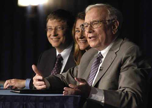 Warren Buffet con Bill y Melinda Gates