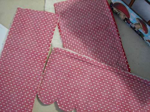 roof panels sewn with batting