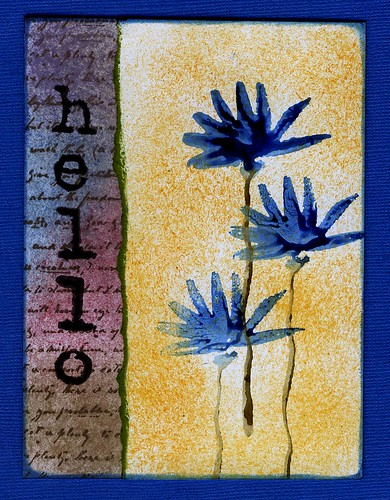 Hello - flowers - Dye Ink