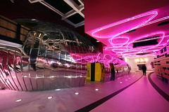 The Public - Pink Lines (Heaven`s Gate (John)) Tags: pink light england art museum architecture modern neon gallery interior architect controversy westbromwich wilalsop willalsop themidlands thepublic pinklines johndalkin heavensgatejohn abigfave