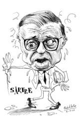 SARTRE, Jean-Paul (Morales de los Ríos) Tags: writers caricaturas philosophers caricatures escritores filósofos