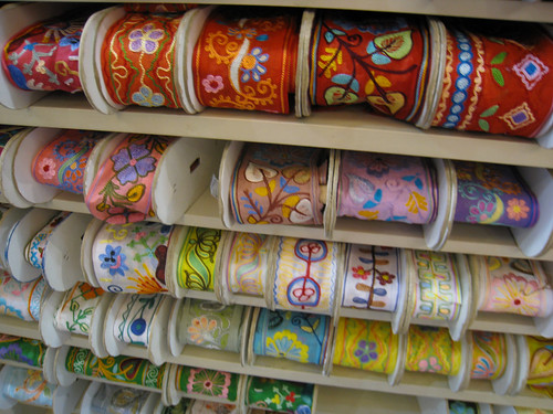 A Selection of Embroidered Ribbon