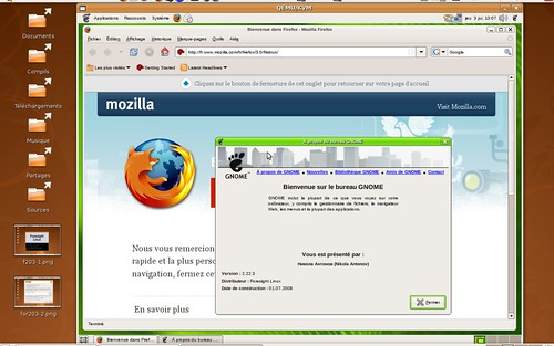 Firefox 3 et Gnome 2.22.3 sous Foresight Linux 2.0.3