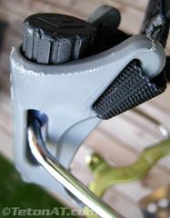 Adjustable heel lever