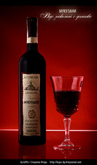 bottle of red wine (kUPa - facebook.com/stetsenko.igor) Tags: bottle ukraine redwine mukuzani commercialphoto advertisingphoto