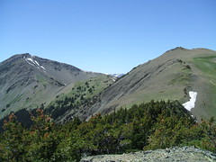 Mt Baldy - Right Gray Wolf Peak - Left