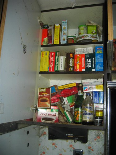 Decades old food in the pantry