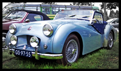 triumph tr2 (Stephan Wita) Tags: auto classic car by photoshop austin nikon automobile ride wheels taken meeting healy oldtimer stephan wita d40 wittem