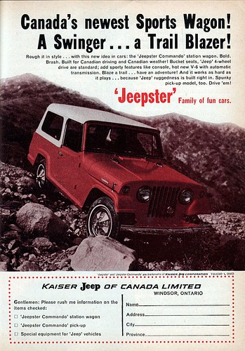 Readers Digest 1967 Jeepster