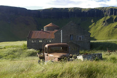 The Man comes around (cyv2) Tags: summer house green car iceland scary rust decay sland islande garagist hlmur hlmor