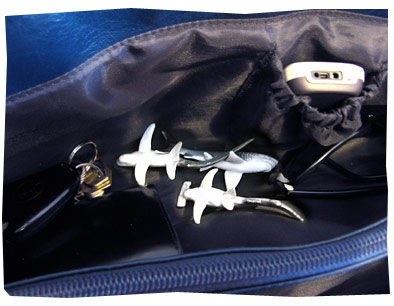 Sharks in my handbag