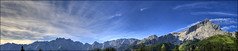 Panorama in den Bayrischen Alpen (mcPhotoArts) Tags: blue sky panorama mountains green clouds germany bayern deutschland bavaria himmel wolken berge hdr garmischpartenkirchen alpspitze wettersteingebirge hdrpanorama canoneos400d platinumphoto sigma1770mm2845dcmacro bumblebeephotografix ffgapashow