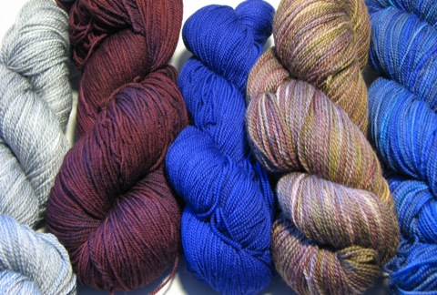 Semi-solid Sock Yarns
