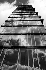 Gathering Clouds (burning_man) Tags: city ireland urban blackandwhite dublin glass architecture skyscraper interesting burningman mostinteresting popular seandiver