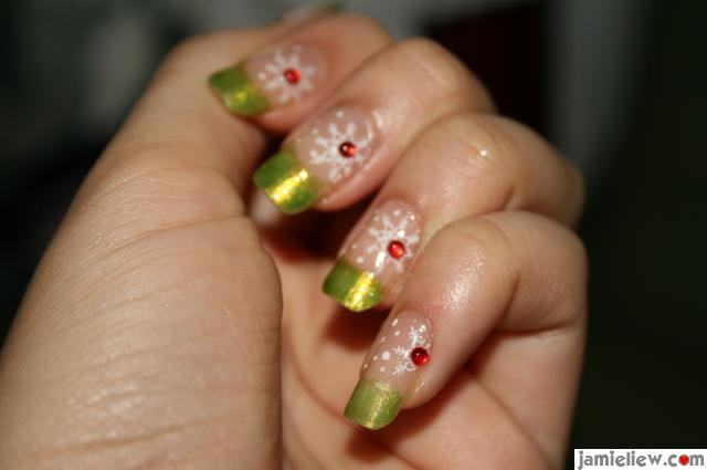 konad nail art christmas design