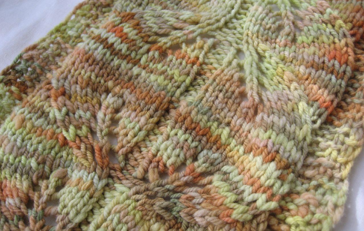 Wide Leaf Scarf - kitchner seam