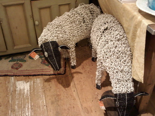 Wire and bead sheep at Anthropologie at Oakbrook Center