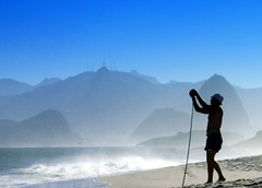 I stand on the beach alone,and gaze at the misty blue... I wish I could  pause this moment forever... (neloqua) Tags: ocean blue light sea summer brazil sun sunlight beach southamerica water beautiful riodejaneiro wonderful spectacular wonder daylight amazing fantastic fishing fisherman sand bravo perfect gorgeous great adorable sunny bluesky chapeau excellent summertime moment lovely charming 2008 magical shining niteroi sunnyday infinestyle phvalue goldenmasterpiece