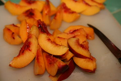 Mango-flavored nectarines and peaches