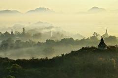Mrauk U, the lost city - Myanmar (PascalBo) Tags: mist green fog sunrise landscape outdoors pagoda nikon asia southeastasia d70 burma buddhism vert jungle myanmar asie paysage brouillard brume leverdesoleil bouddhisme pagode birmanie mrauku rakhinestate myohaung 123faves asiedusudest pascalboegli lptwilight