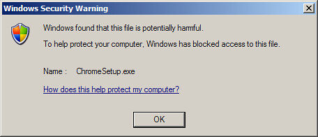 Windows Security Blocking Google Chrome