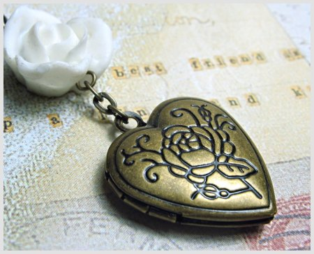 A Rose Locket Pendant