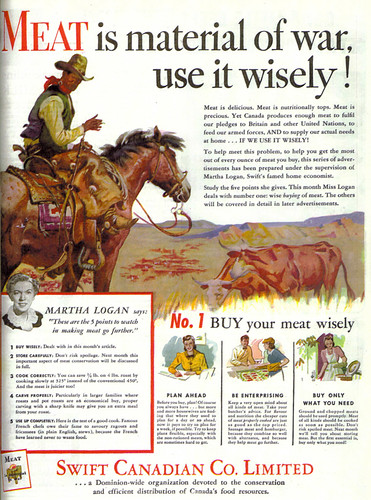 Vintage Ad #603: Martha Logan Says Meat is Material of War
