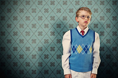 Do you ever think about it? (wiseacre photo) Tags: boy wallpaper portrait child dressed annoyed upset
