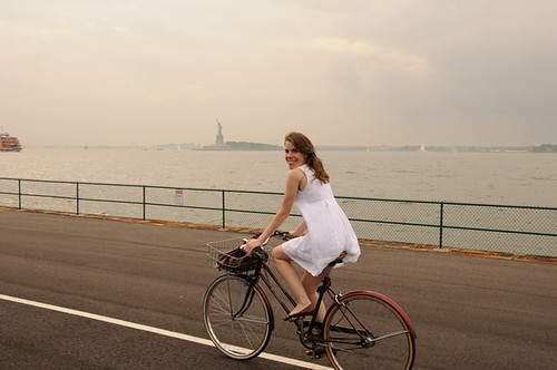 biking around Governors Island