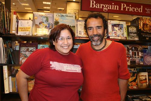 Con Damián Alcázar