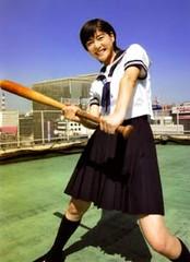 棒球look+元氣笑容
