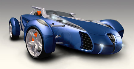 Seventeenth futuristic car photo