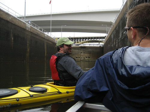 Ed in the Lower St Anthony lock