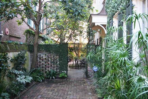 a charming courtyard