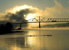 Ohio River Sunrise (Bernie Kasper) Tags: bridge color nature fog river nikon kentucky indiana ohioriver surise thegalaxy madisonindiana abigfave aplusphoto onlythebestare platinumheartaward goldstaraward berniekasper flickrstruereflection1 flickrstruereflection2 flickrstruereflection3 flickrsfinestimages1 curatorsset