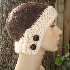 Chunky Cloche Hat in Java Bean with Extra Foam