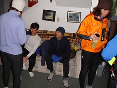 Pre Mushroom Run (ex_magician) Tags: pictures jeff mushroom oregon photo interesting cabin image photos sony aaron picture cybershot running run tights images linda runners dsc lillian lakeofthewoods moik klamathfalls p200 15k cabininthewoods dmctz5 cabinbythelake
