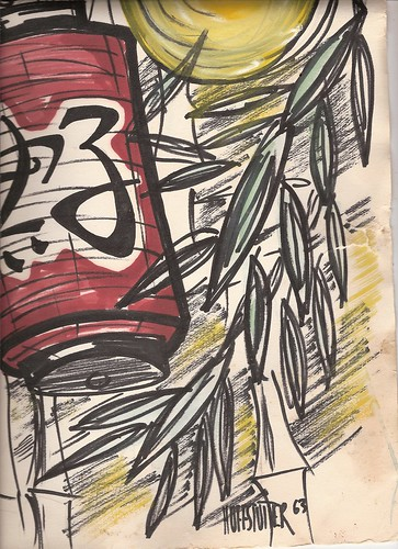 BAMBOO AND LANTERN 1963 by roberthuffstutter