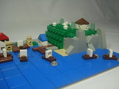 Mini Castle Bay (remyth) Tags: castle bay lego harbour pirates mini micro