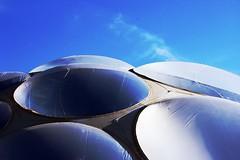 Blue Sky, Transparent Discs (Manu Arj) Tags: espaa building architecture spain arquitectura expo edificio enric zaragoza aragon 2008 thirst sed 08 ruiz saragossa exposicion geli edifici espanya arago pabellon 5photosaday thebestofday enricruizgeli oneofmypics pabellonsed
