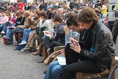 lezione piazza san Carlo Torino (lore1988) Tags: torino 23 tremonti 133 politecnico assemblea manifestazione gelmini