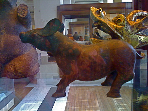 Ancient Chinese bronze animal