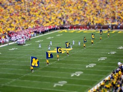 Go Blue! (amzakem) Tags: blue college colors campus miniature football stadium michigan annarbor uofm bigten stadion michiganfootball bighouse stade universityofmichigan wolverines collegefootball tiltshift footballstadium goblue maizeandblue michiganstadium michiganwolverines explored tiltshiftfake miniaturefake tiltshift12
