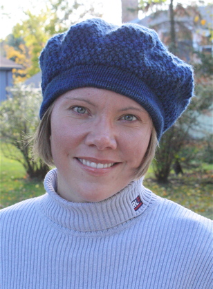 Moss stitch beret