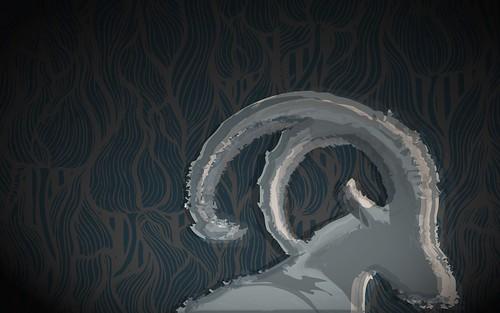 Ubuntu 8.10 Intrepid Ibex Wallpapers - abstractibex_blu