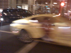 Too fast - the Obama Bentley (the N Judah chronicles) Tags: sanfrancisco win stfrancis obama electionnight bmwl